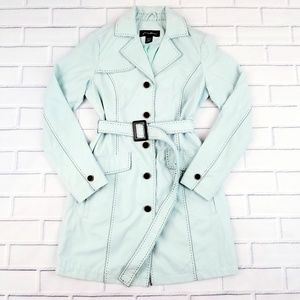 Eddie Bauer Mint Trench Coat